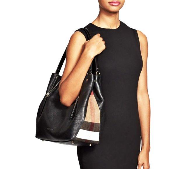 Burberry Medium Maidstone Leather Shoulder Bag